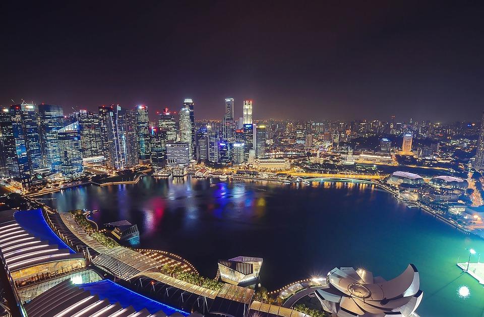 View cực đẹp nhìn từ Marina Bay Sands Skypark