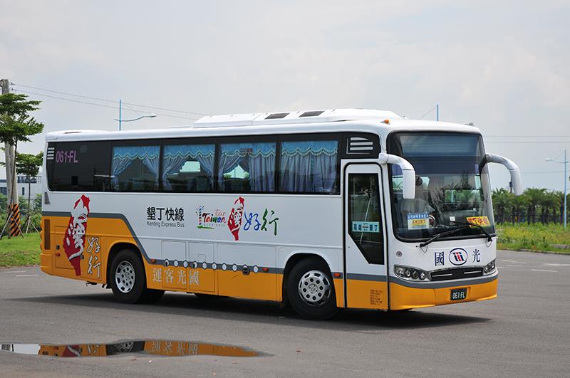 Nhiều du khách chọn sử dụng xe bus để đi đến sông Hsiukuluan