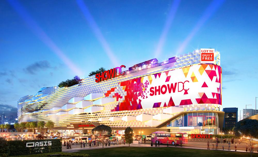 Trung tâm thương lại Show DC Mall nổi bật một vùng trời Bangkok