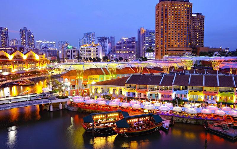 """Cầu cảng Clarke Quay - tụ điểm """"ăn chơi"""" nổi tiếng Singapore"""