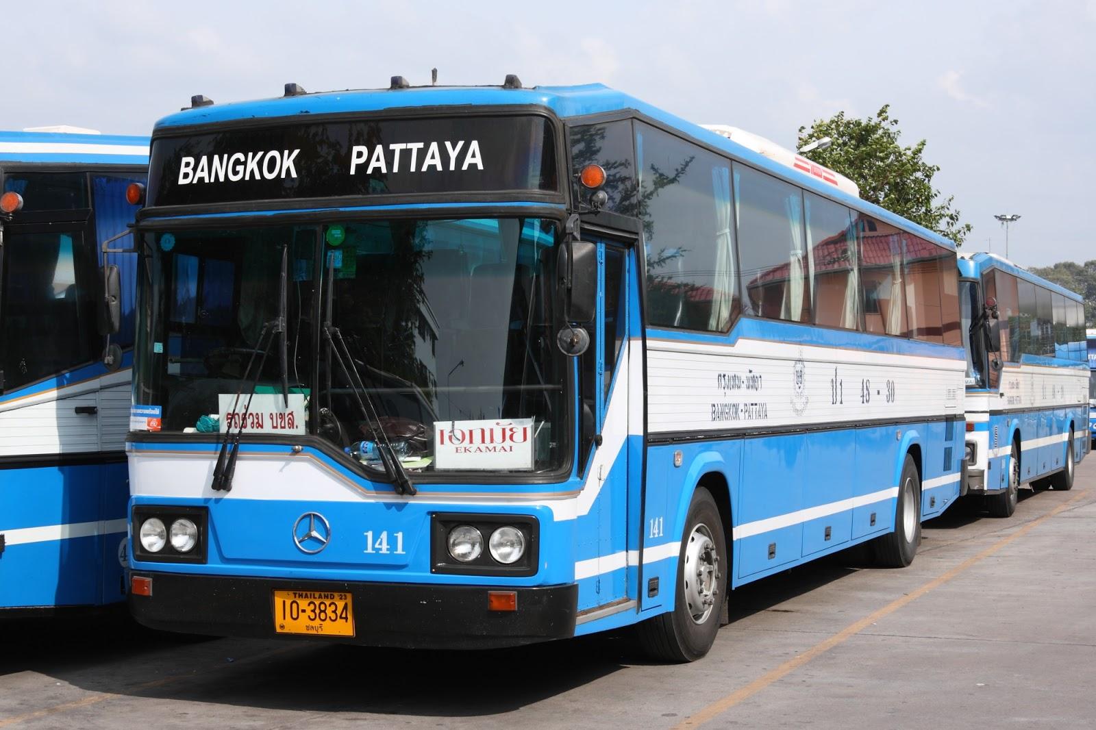 Xe bus đi Bangkok- Pattaya có rất nhiều, dễ kiếm