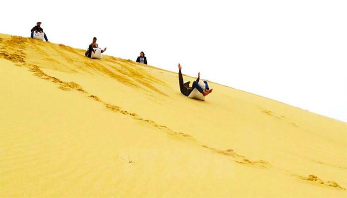 Đồi cát Phương Mai là địa điểm du lịch mới đang dần được triển.