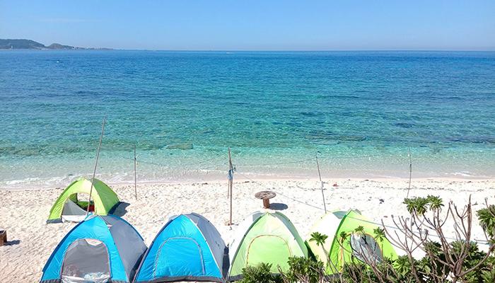"""Đặt chân đến Lý Sơn để thấy trọn vẹn vẻ đẹp ngang tầm """"Maldives"""" của biển xanh nơi đây. Nguồn: FB du lịch lý sơn - gió biển homestay & camping đảo bé - lý sơn"""