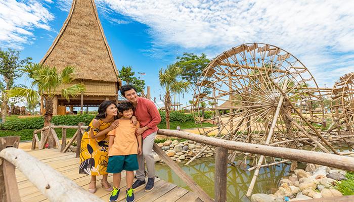 Đảo Dân Gian - nơi bạn được trải nghiệm các loại hình văn hóa khác nhau của các dân tộc Việt Nam. Nguồn: znews-photo-td.zadn.vn