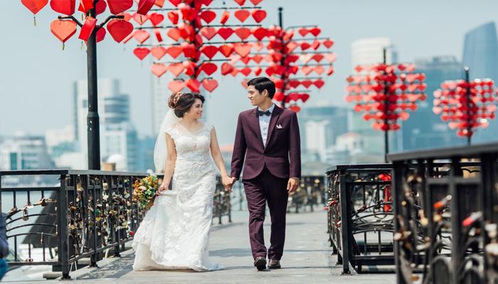 Và cả những tình yêu đã chín mùi đi đến đám cưới trọn vẹn. (Nguồn: Jong APhuong)