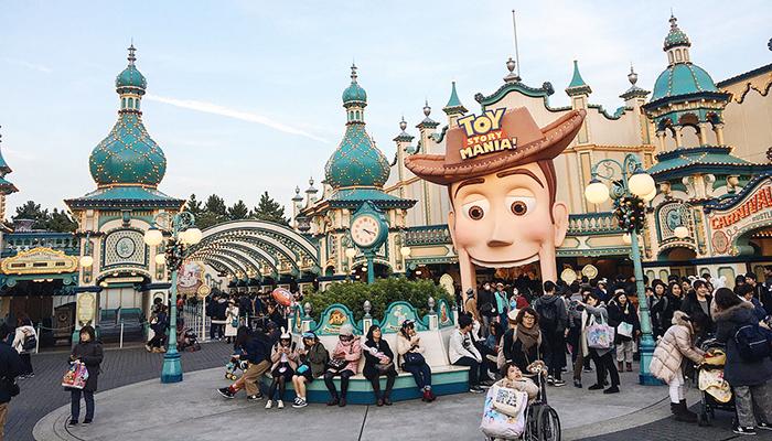 Toy Story Mania luôn là điểm đến hút khách của Disneysea. (Nguồn: jbeedomigo@ins)