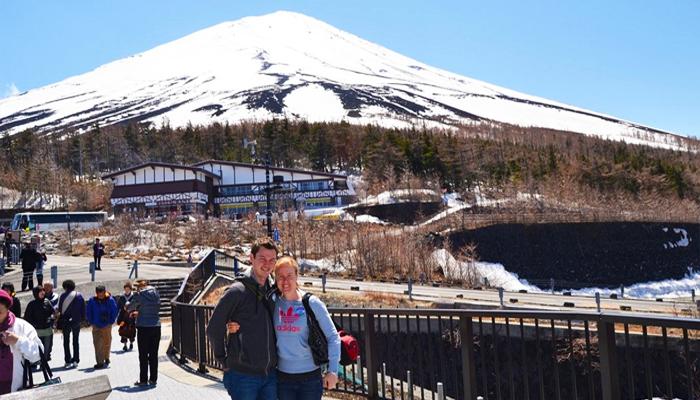 Đứng từ trạm số 5 cũng đủ cho bạn những góc chụp núi Phú Sĩ vô cùng tuyệt vời.