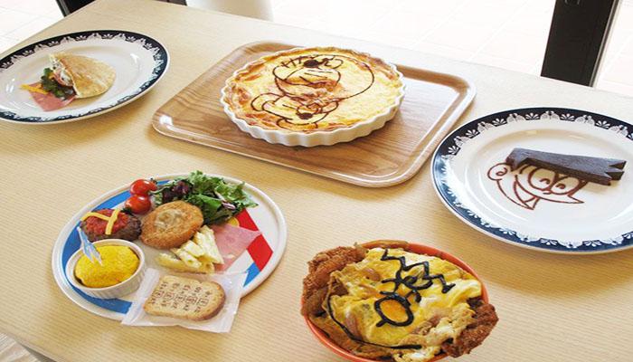 Các món ăn chủ đề Doraemon được trang trí vừa đẹp mắt lại trông rất ngon lành. Nguồn: i.pinimg.com