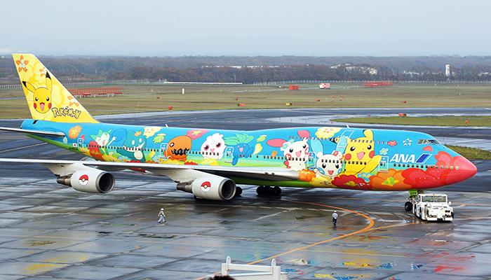 Hãng All Nippon Airways của Nhật Bản luôn có những chiếc máy bay đến Nhật với hình hài rất bắt mắt. Nguồn: planespotters.net