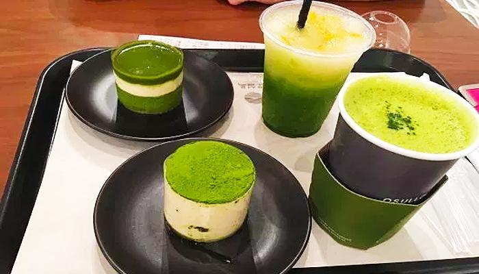 Những món ăn tráng miệng được làm từ trà xanh ngon tuyệt.