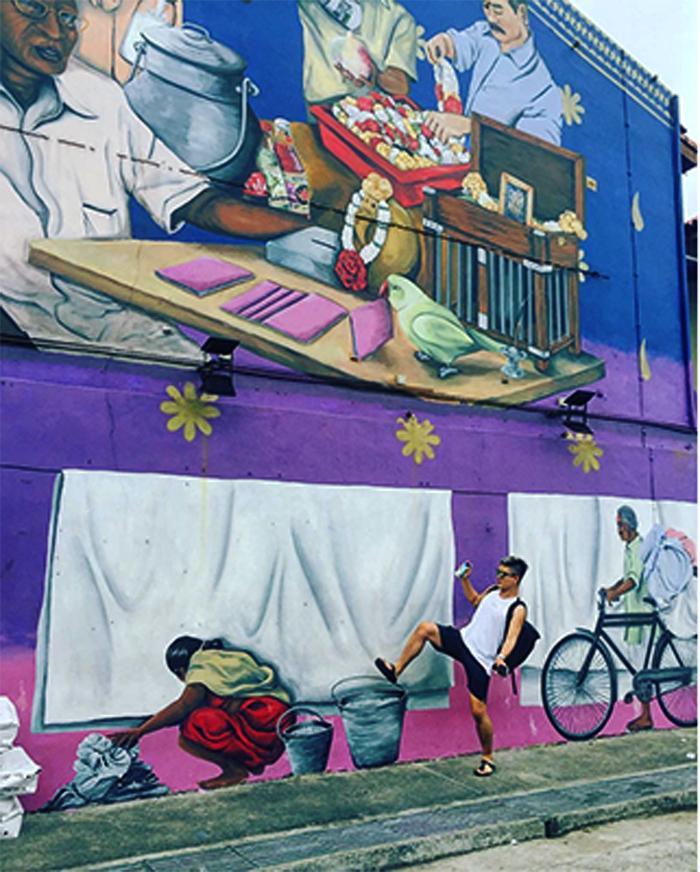 Những con phố tranh tường tại Little India. (Nguồn: tripnow)
