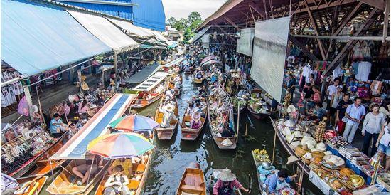 Kết quả hình ảnh cho Chợ nổi Damnoen Saduak