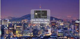 Hình của SIM 4G Hàn Quốc nhận tại sân bay Incheon