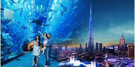 """Hình của Combo Vé đài quan sát Burj Khalifa """"At the Top"""" (tầng 124, 125) + Vé Dubai Aquarium"""