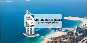 Hình của SIM 4G Dubai (UAE) giao nhận tại Việt Nam