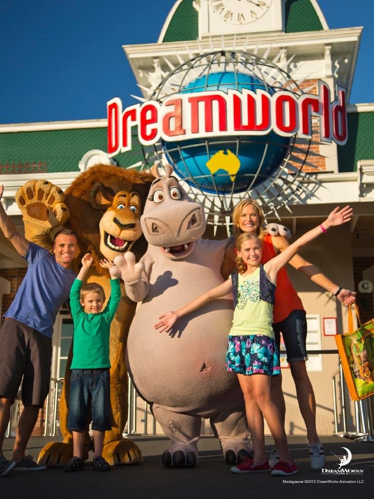 Dreamworld với xe đưa đón từ Brisbane