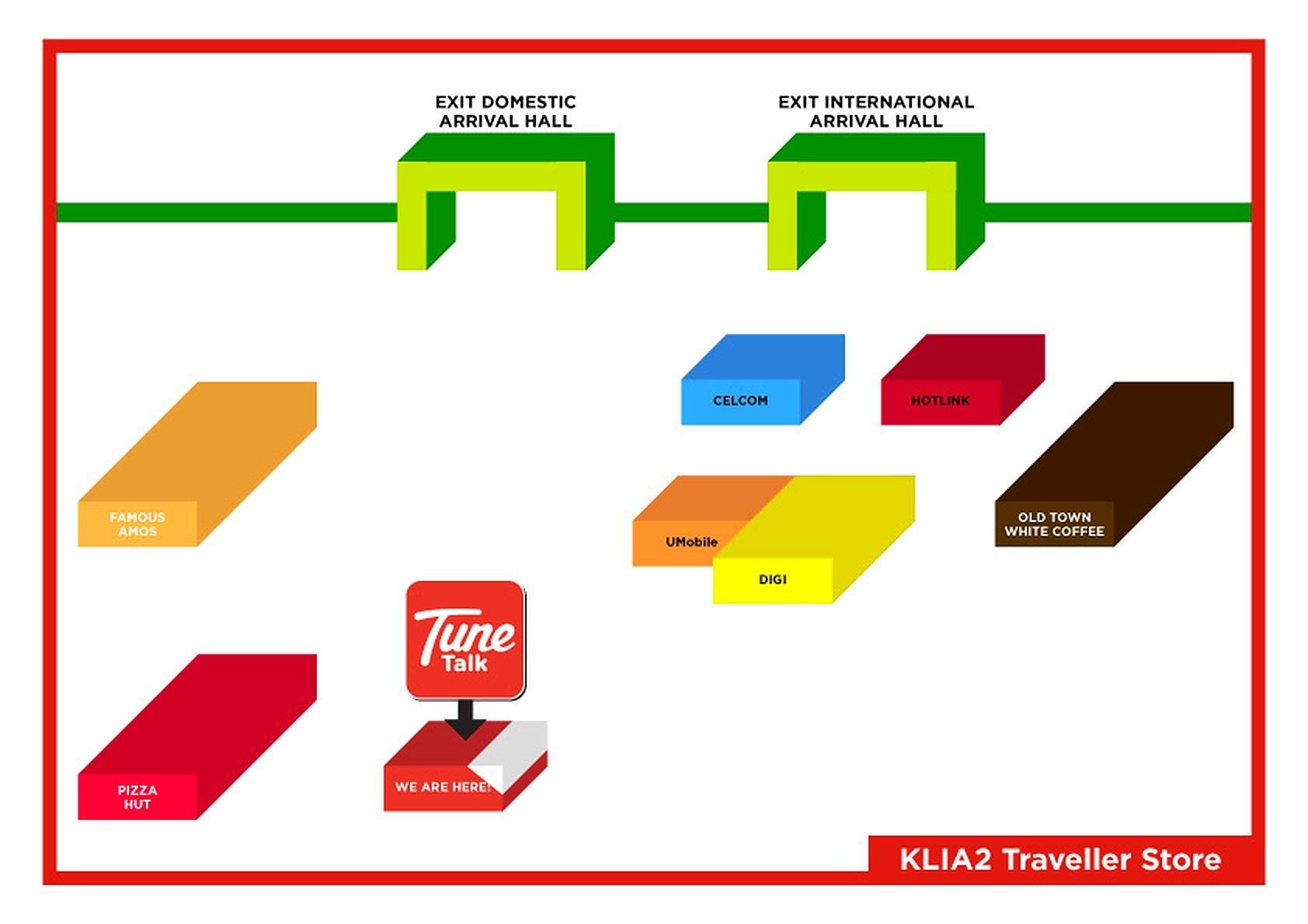 Malaysia 4G SIM Card (Nhận tại sân bay quốc tế Kuala Lumpur 2)