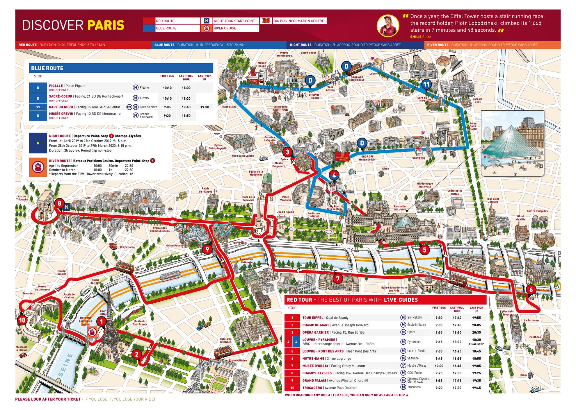 Paris Hop-on & Hop-off Bus