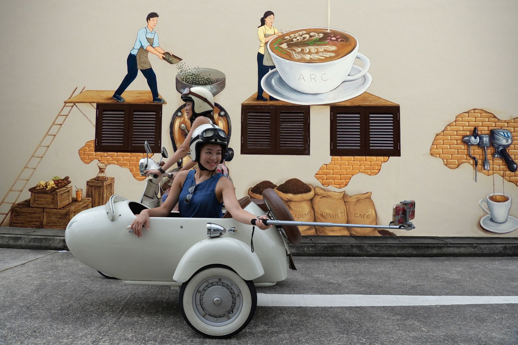Tham quan di sản Singapore trên chuyến xe ba bánh