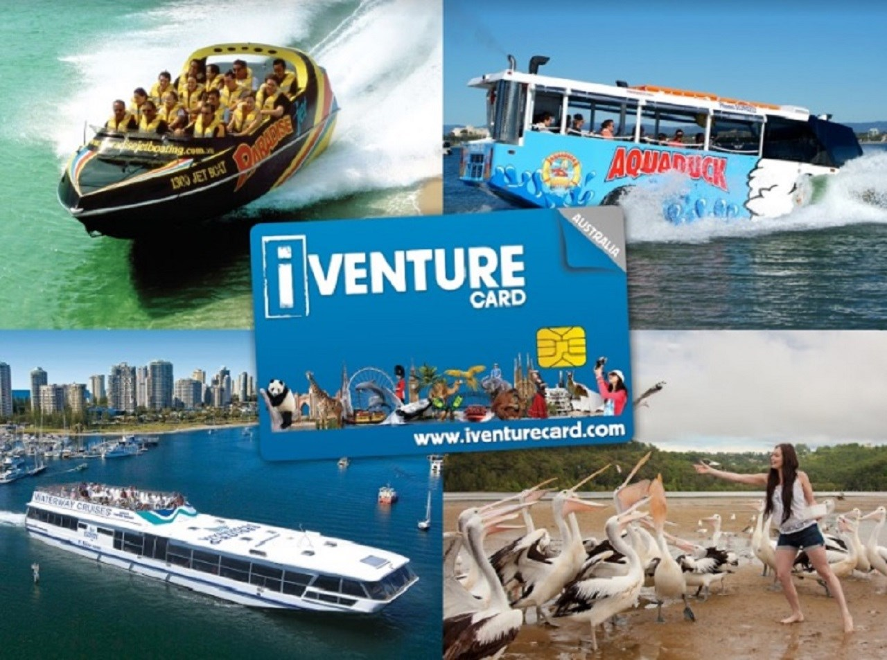 Thẻ iVenture Gold Coast Flexi Attractions Pass